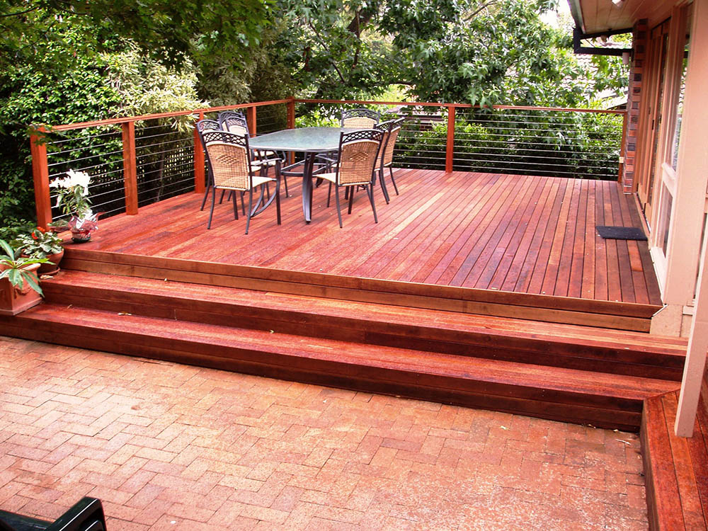 Timber designs construction thomsons outdoor pine for Timber deck construction