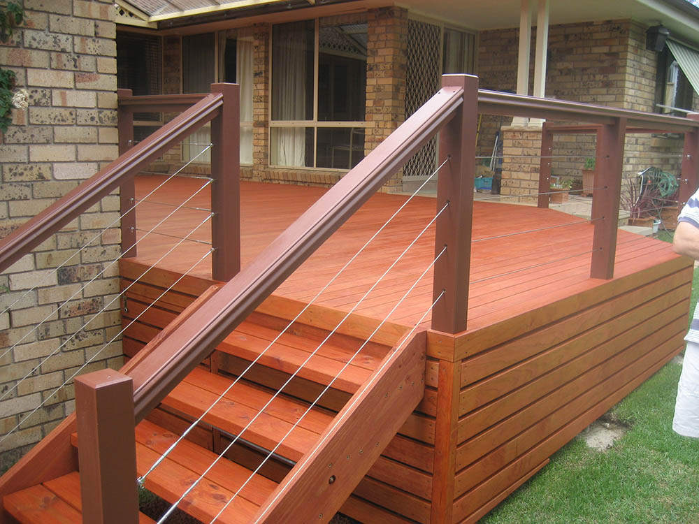 Timber decking designs thomsons outdoor pine for Best timber for decking